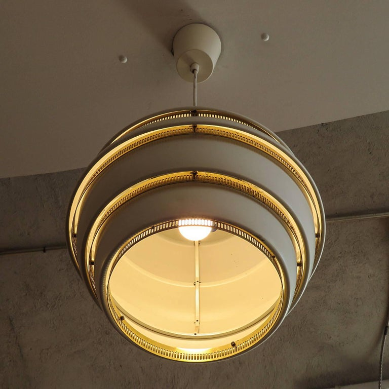 Metal Early Alvar Aalto A331 Beehive Pendant For Sale