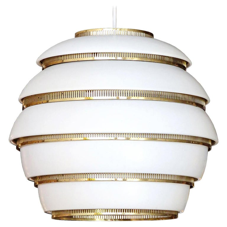 Early Alvar Aalto A331 Beehive Pendant For Sale
