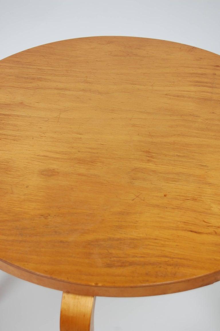 Scandinavian Modern Early Alvar Aalto Side Table by Finmar For Sale