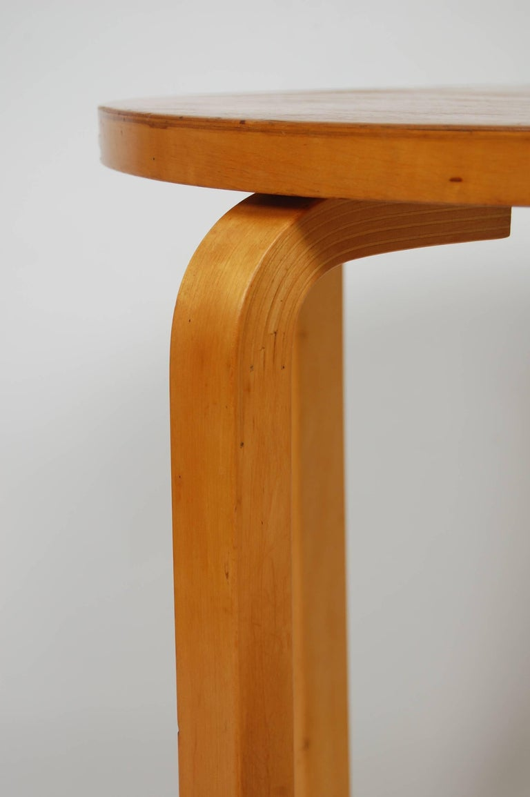 Mid-20th Century Early Production Alvar Aalto Side Table by Finmar Scandinavian Modern For Sale