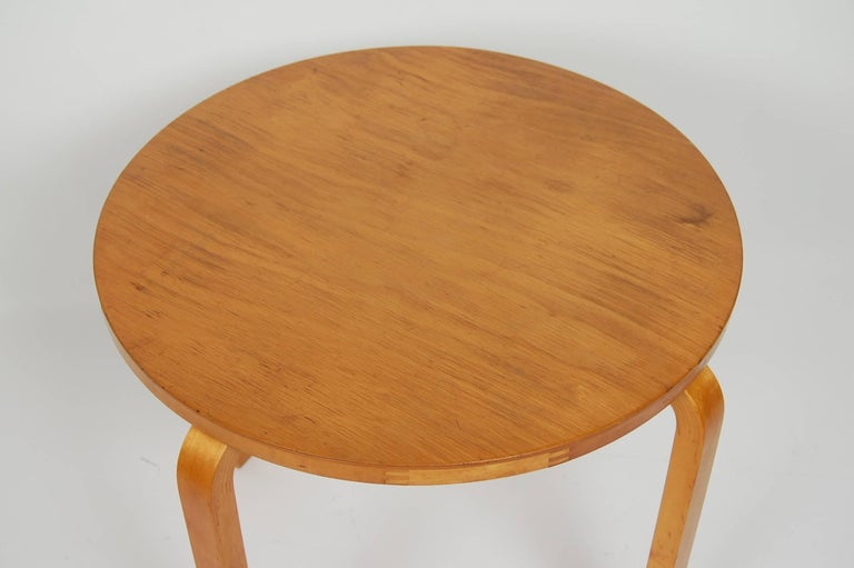Mid-20th Century Early Alvar Aalto Side Table by Finmar For Sale