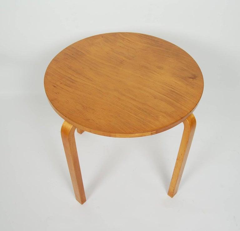 Birch Early Alvar Aalto Side Table by Finmar For Sale