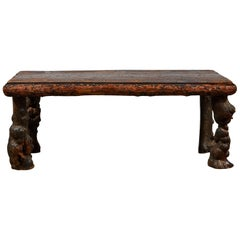 Early American Burled Wood Table