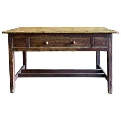Early American Console Table in Dark Brown