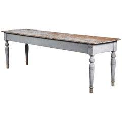 Early American Grey Farm Table