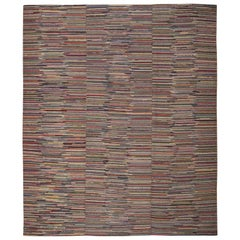 Early American Hooked Rug. Size: 9 Ft 6 in x 11 Ft 7 in (2.9 M x 3.53 M)
