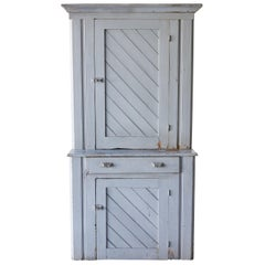 Early American Hutch with Diagonal Planking