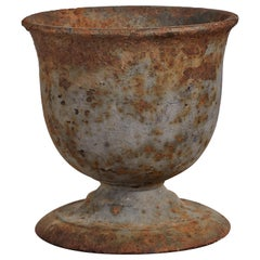 Early American Iron Footed Urn