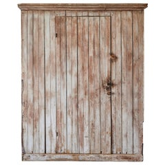 Early American Painted Single Door Country Cupboard