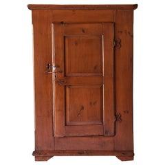 Early American Painted Single Door Cupboard