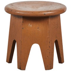 Early American Painted Stool