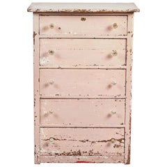 Early American Pink Painted Dresser