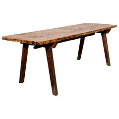 Early American Primitive Bench or Coffee Table