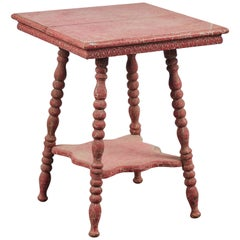 Early American Red Painted Side Table