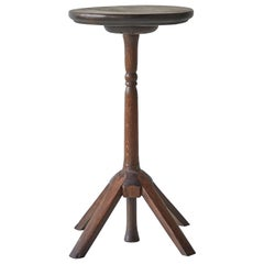 Early American Round Wooden Pedestal Table