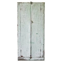 Early American Rustic Painted Two-Door Cabinet