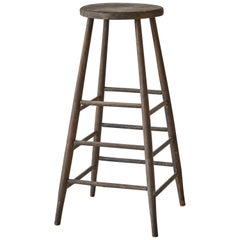 Early American Rustic Tall Stool