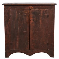 Early American Rustic Two-Door Cabinet with Scalloped Bottom