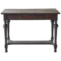 Early American Single Drawer Writing Desk