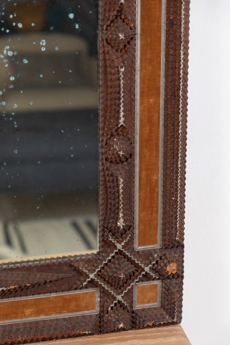 Early American Tramp Mirror For Sale 4