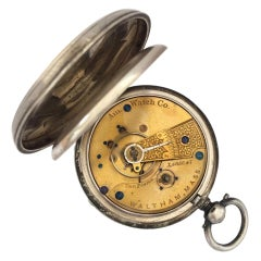 Early American Watch Co. Waltham Mass Silver Pocket Watch