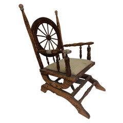 Early American Wheel Back Rocking Chair
