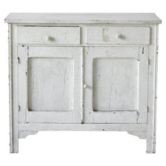 Early American White Painted Server