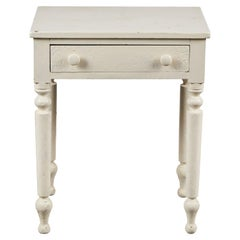 Early American White Painted Side Table