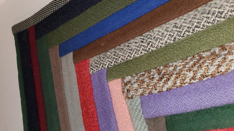 American Early Amish Wool Concentric Squares Crib Quilt