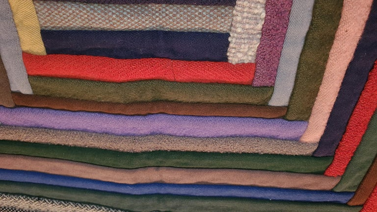 19th Century Early Amish Wool Concentric Squares Crib Quilt