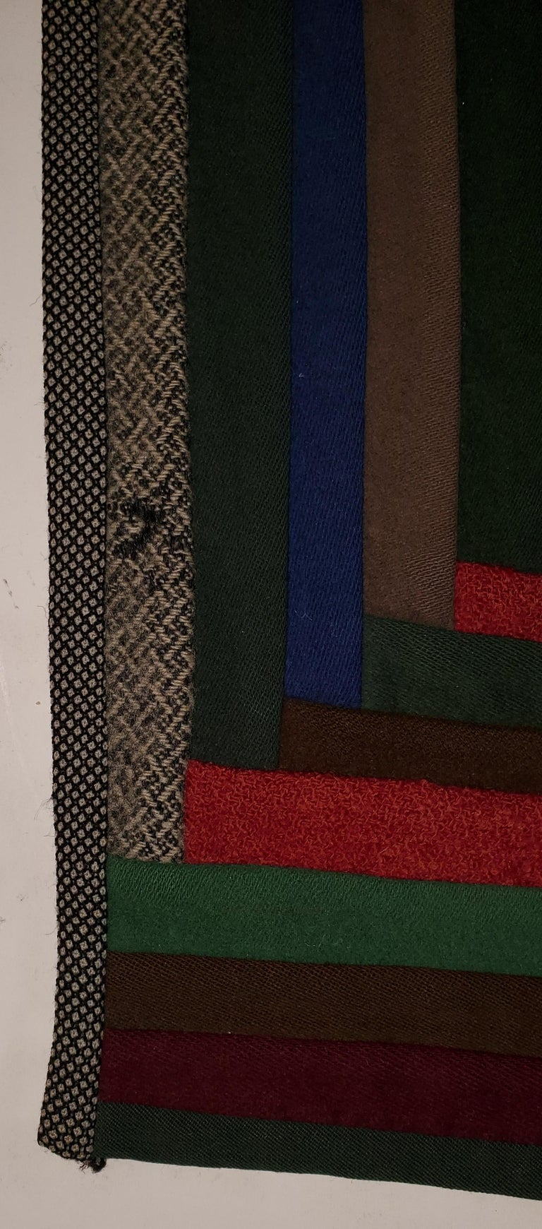 Early Amish Wool Concentric Squares Crib Quilt 1
