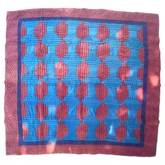 Early Amish Wool Log Cabin Quilt