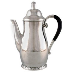 Early and Rare Georg Jensen Coffee Pot, Design Number 32C Dated 1915-1930
