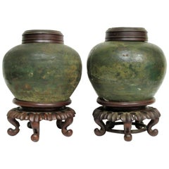 Early Antique Chinese Tea Jars