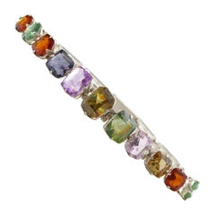 Early Art Deco Bracelet with 17 Carat of Unheated and Untreated Rare Gems