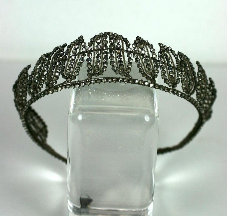 Women's Early Art Deco French Crystal Tiara  For Sale