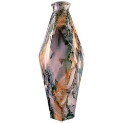 Early Art Deco Rörstrand Vase in Glazed Faience, Glaze with Marble Effect