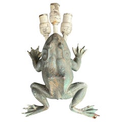"""Early Arts and Crafts Cast Bronze """"Toad"""" Figural Wall Sconce"""