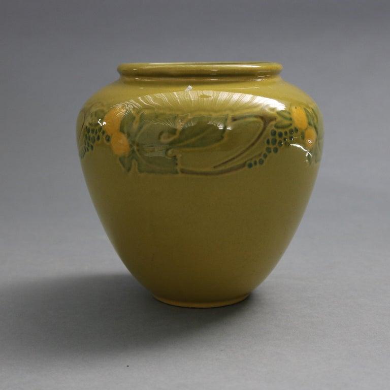 American Early Arts & Crafts Roseville Art Pottery Vase, Experimental Glaze, circa 1920