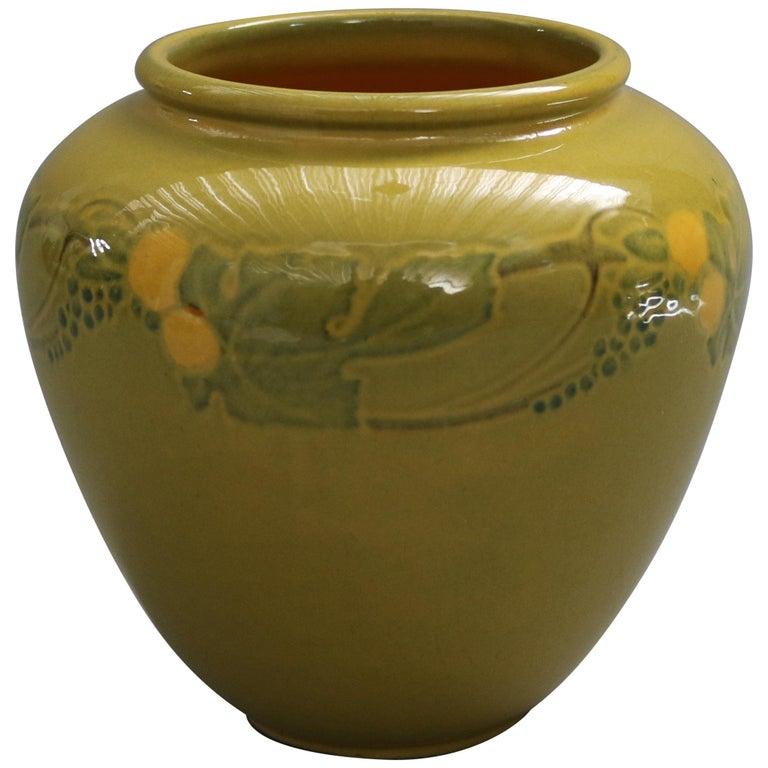 Early Arts & Crafts Roseville Art Pottery Vase, Experimental Glaze, circa 1920