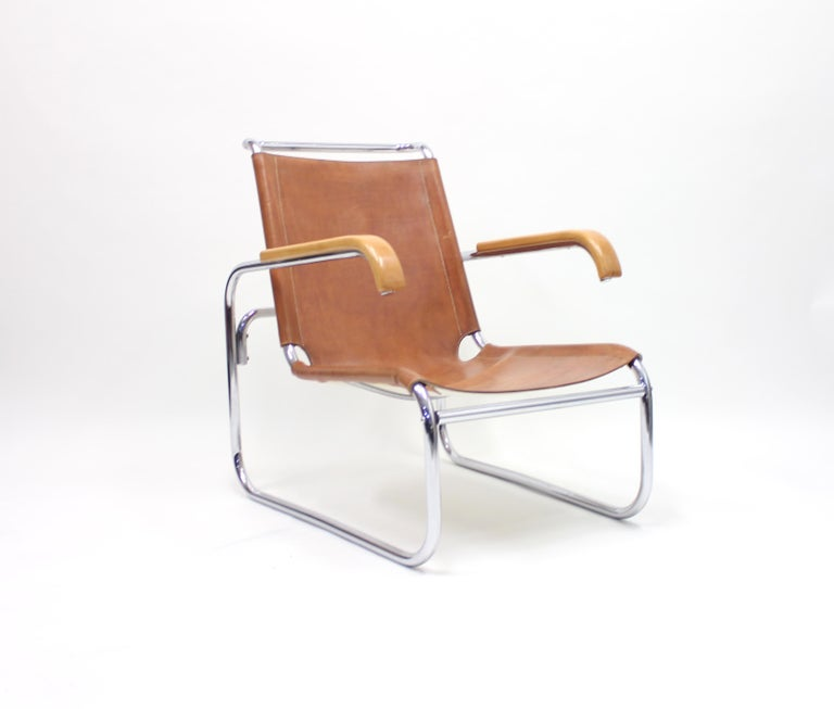 Bauhaus Early B35 Chair by Marcel Breuer for Thonet, 1930s For Sale