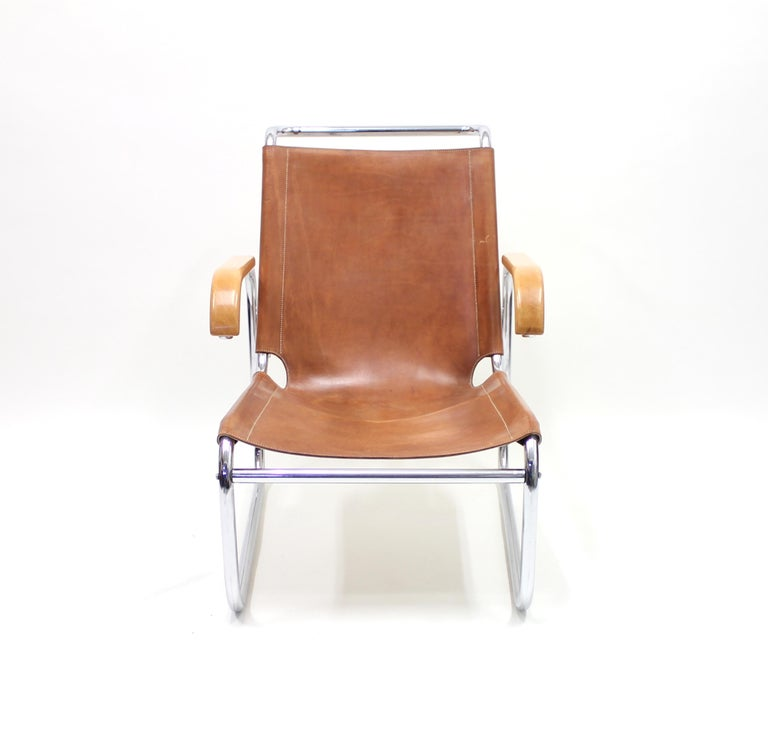 German Early B35 Chair by Marcel Breuer for Thonet, 1930s For Sale