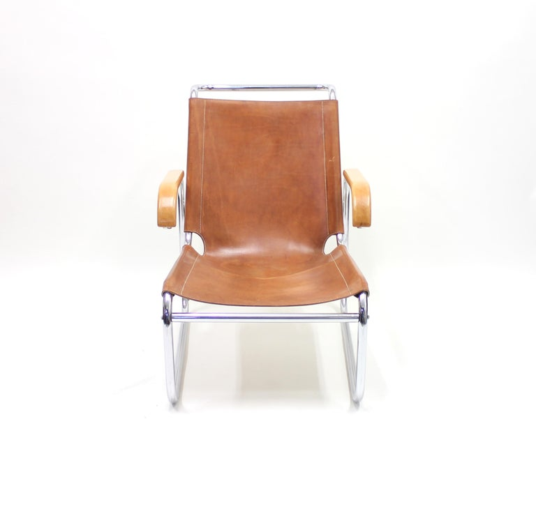 Early B35 Chair by Marcel Breuer for Thonet, 1930s In Good Condition For Sale In Uppsala, SE