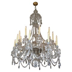 Early Baccarat Crystal Chandelier from France
