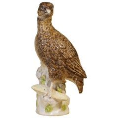 Early Berlin Porcelain Lifesize Quail, Wegely Period, circa 1755