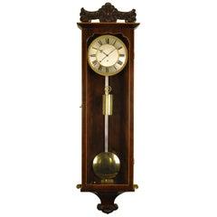 Early Biedermeier Vienna Regulator Wall Clock