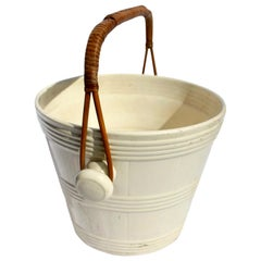 Early Boch Freres Creamware Ice Bucket; with Earliest Mark, Belgium, circa 1841