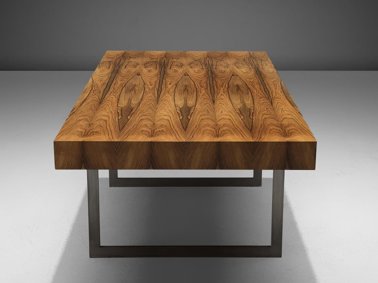 Mid-20th Century Early Bodil Kjaer Executive Rosewood Writing Table and Cabinet For Sale