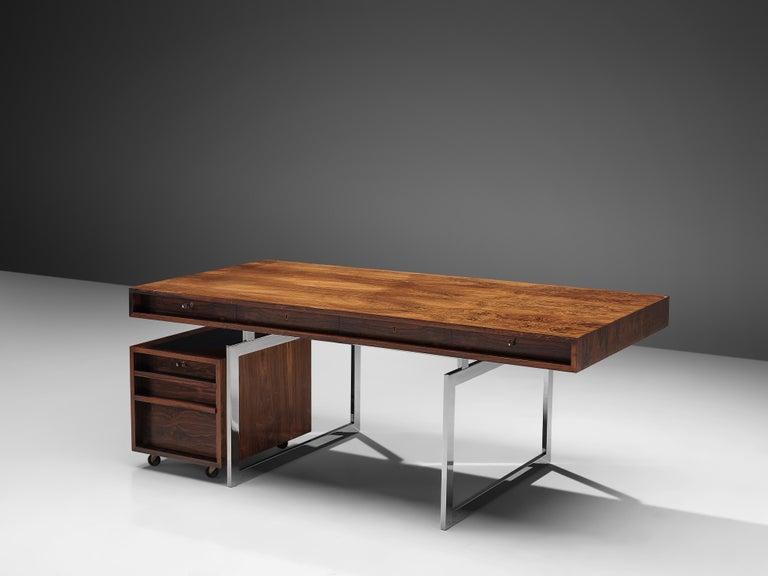 Scandinavian Modern Early Bodil Kjaer Executive Writing Table For Sale