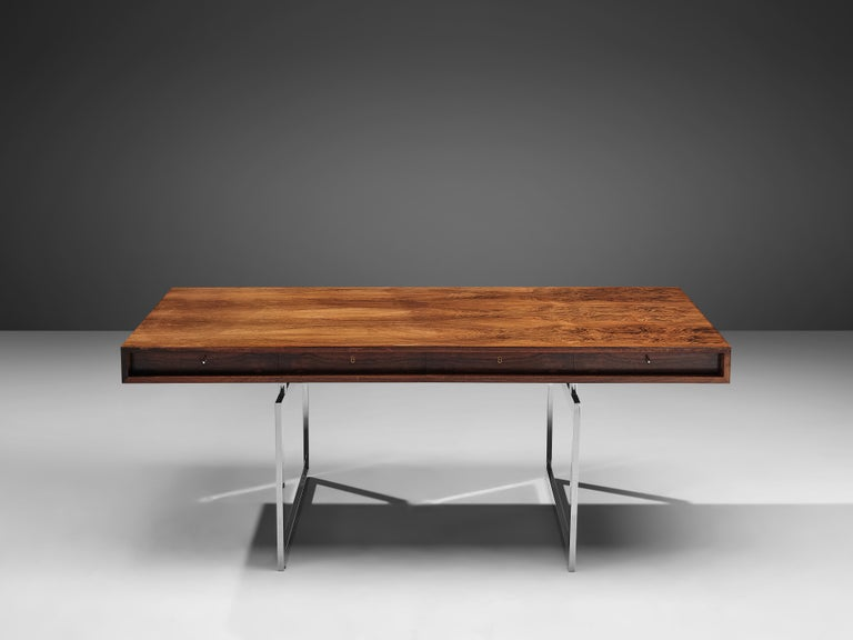 Danish Early Bodil Kjaer Executive Writing Table For Sale